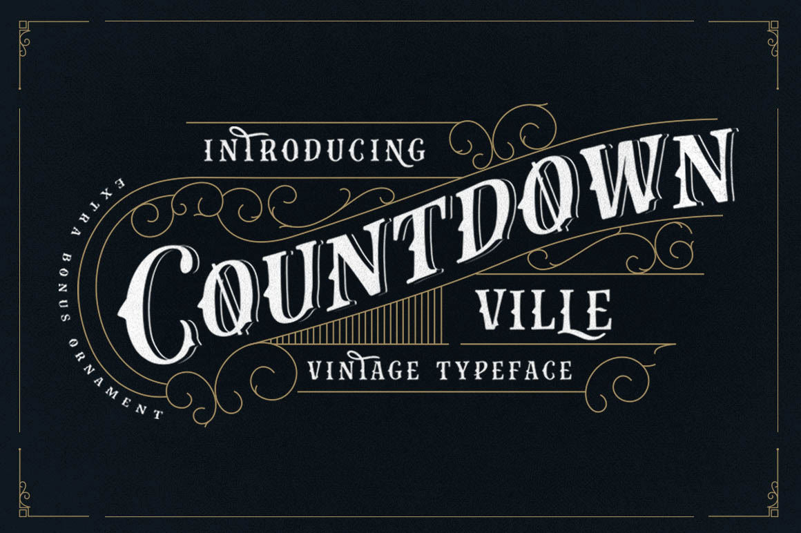 Print on Demand: Countdown Ville Display Font By lickermelody - Image 1