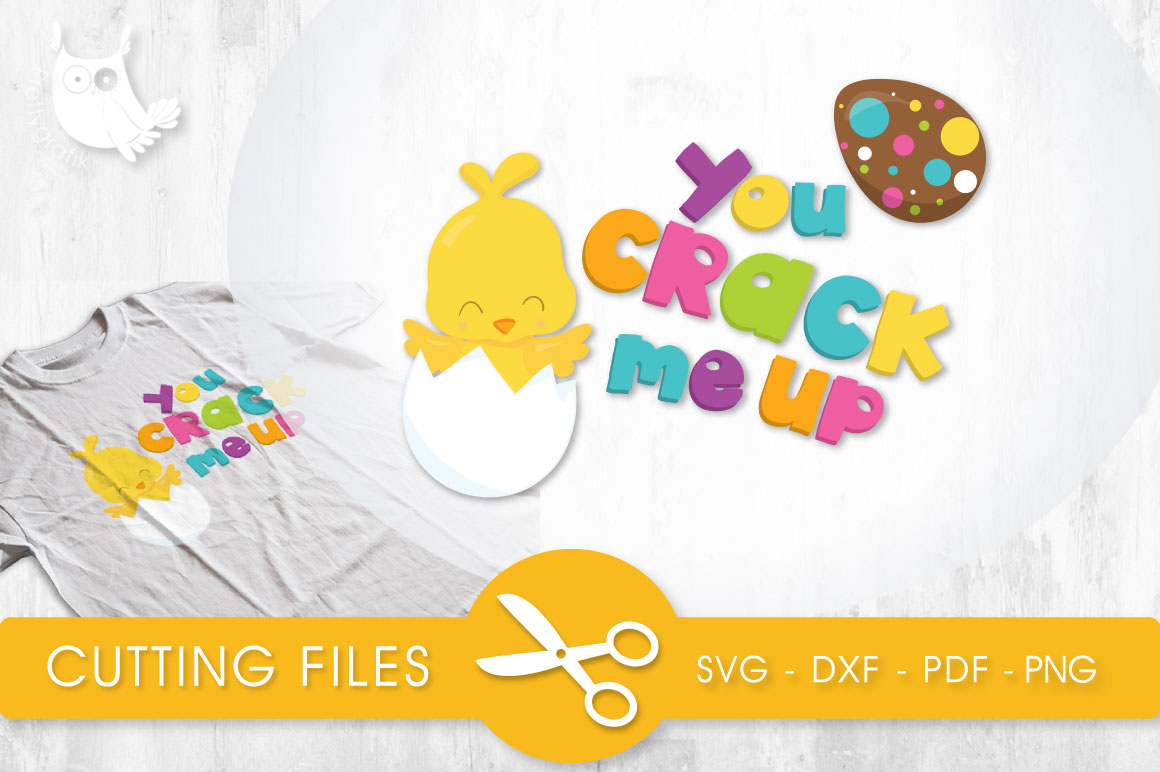 Crack Me Up Chick Graphic Crafts By PrettyCuttables