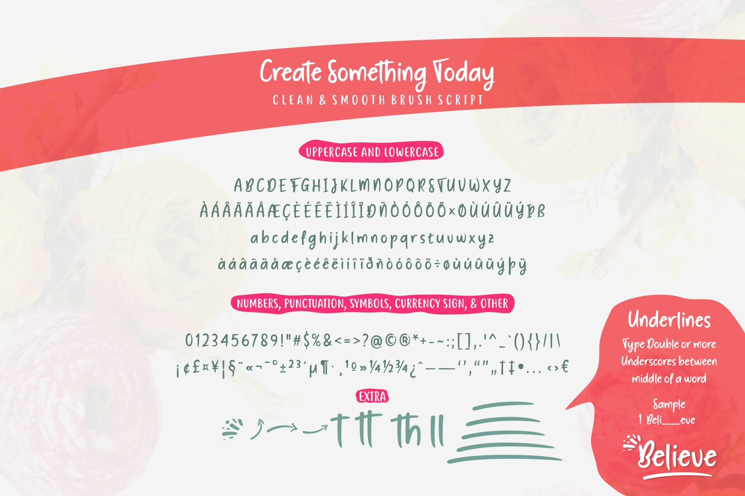 Print on Demand: Create Something Today Script & Handwritten Font By Situjuh - Image 4