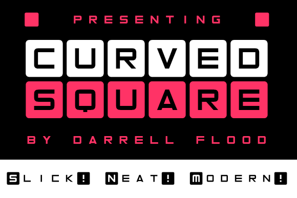 Print on Demand: Curved Square Display Font By Dadiomouse
