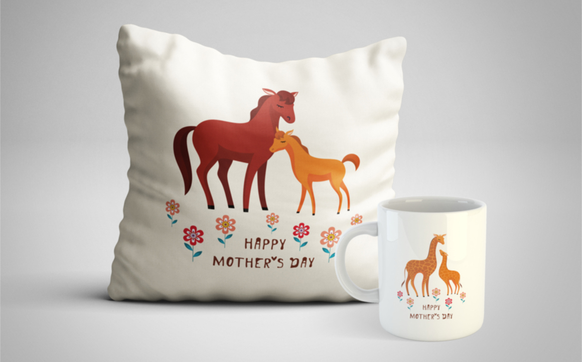 Print on Demand: Cute Animals Mother's Day Set Graphic Crafts By Olga Belova - Image 4