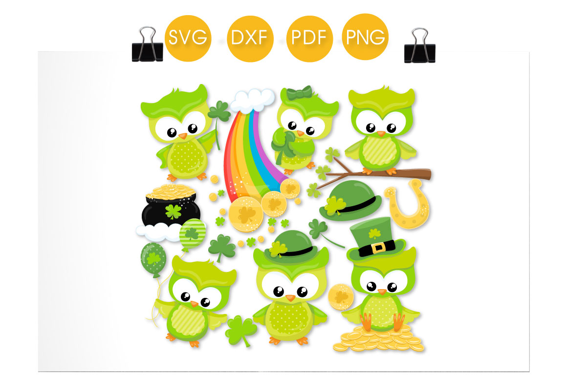 Cute Lucky Owls Graphic Crafts By PrettyCuttables - Image 2
