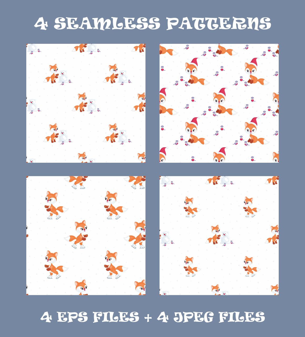 Print on Demand: Cute Little Fox. Christmas Clip Arts and Seamless Patterns Graphic Illustrations By Olga Belova - Image 3