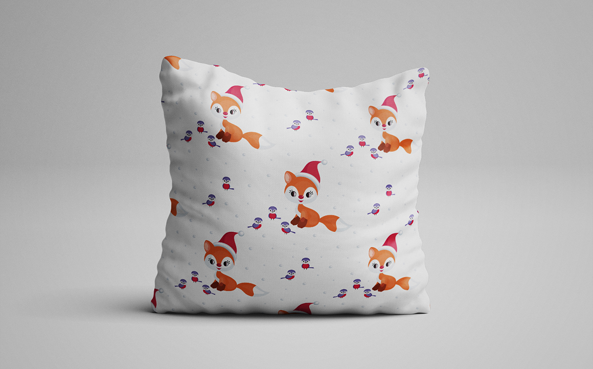 Print on Demand: Cute Little Fox. Christmas Clip Arts and Seamless Patterns Graphic Illustrations By Olga Belova - Image 5