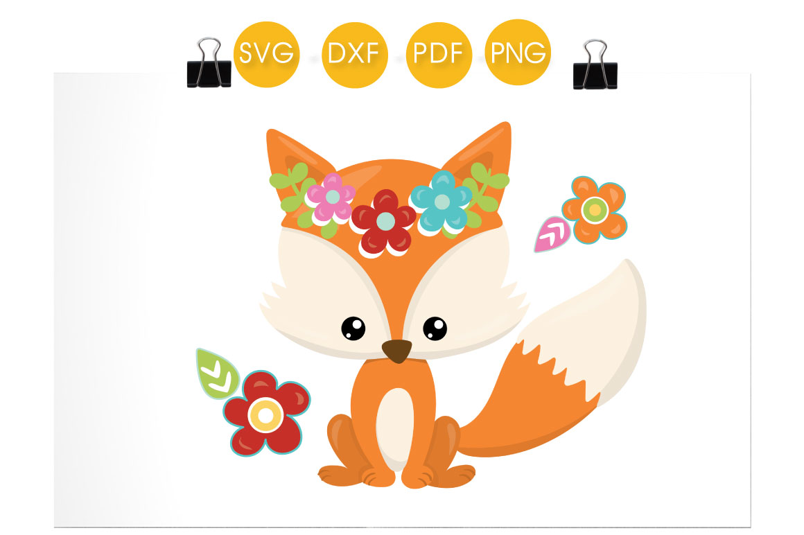 Cutesy Fall Fox Graphic Crafts By PrettyCuttables - Image 2