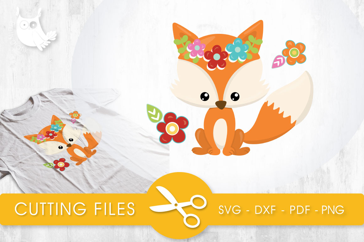 Cutesy Fall Fox Graphic Crafts By PrettyCuttables - Image 1