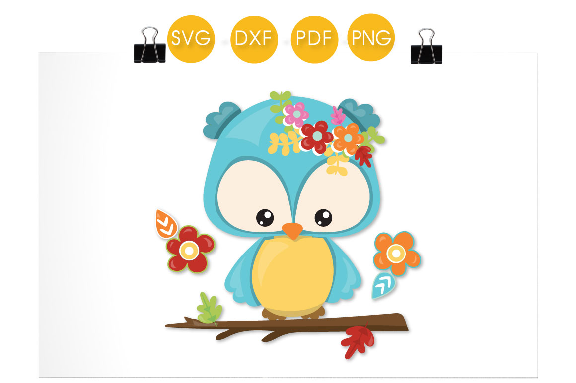 Download Free Cutesy Fall Owl Graphic By Prettycuttables Creative Fabrica for Cricut Explore, Silhouette and other cutting machines.