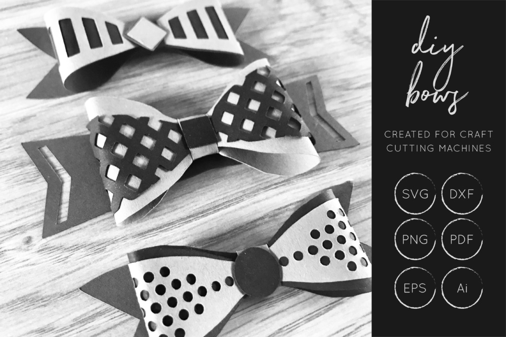 Download Free Cute Diy 3d Bow Cut Files Graphic By Illuztrate Creative Fabrica for Cricut Explore, Silhouette and other cutting machines.