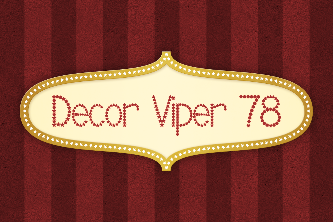 Decor Viper 78 Decorative Font By viper78