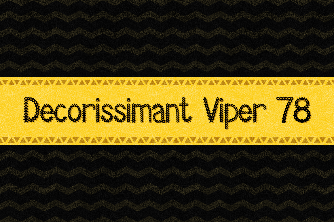 Decorissimant Viper 78 Decorative Font By viper78