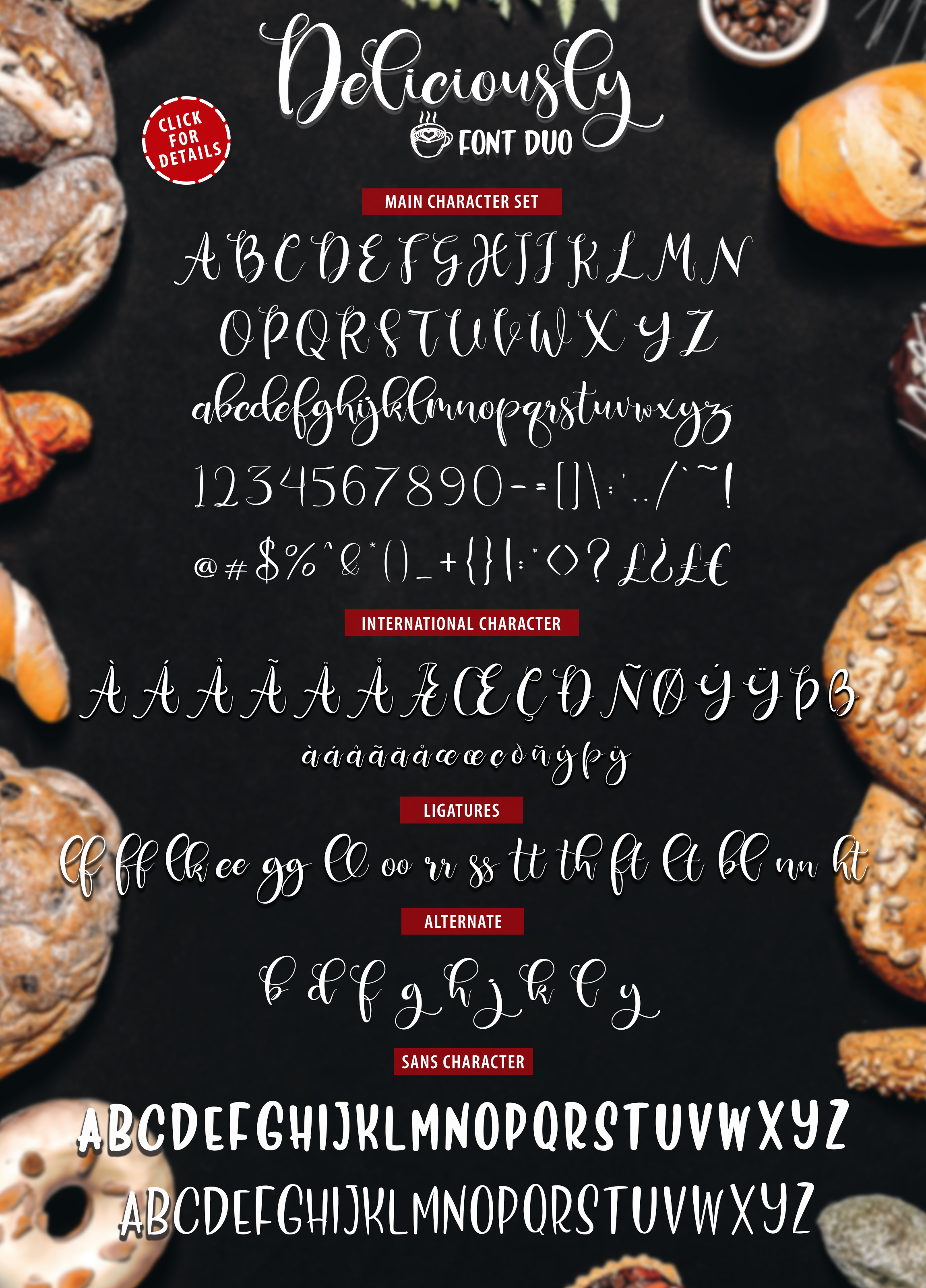 Print on Demand: Deliciously Font Duo Script & Handwritten Font By Din Studio - Image 6