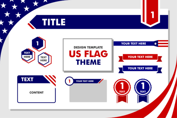 design template us flag theme graphic by greenlines studios