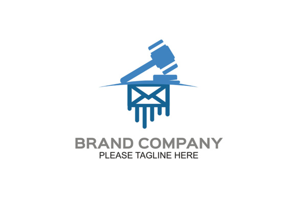 Design Judge Hammer Icon Symbol Law Firm Graphic By Friendesigns