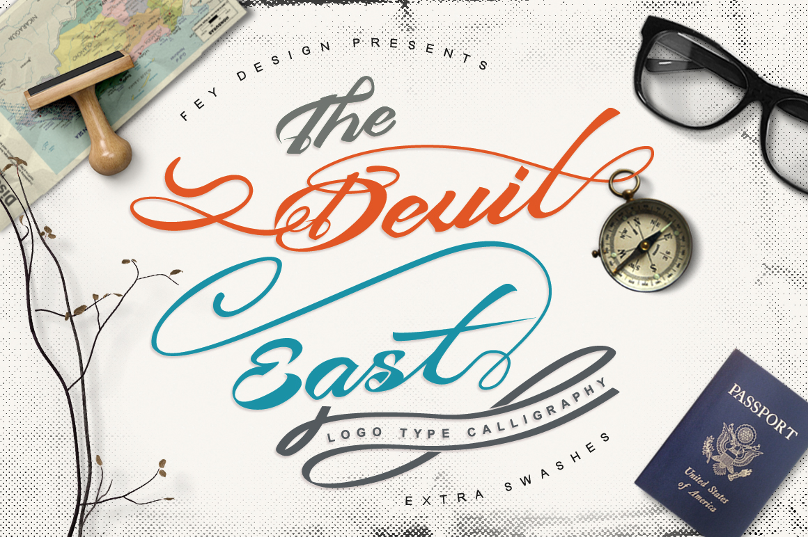 Print on Demand: Devil East Script & Handwritten Font By feydesign
