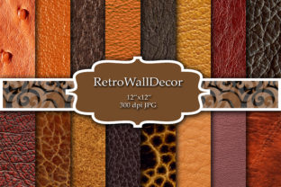 Print on Demand: Digital Leather Paper Graphic Backgrounds By retrowalldecor