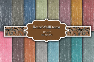 Print on Demand: Distressed Canvas Graphic Backgrounds By retrowalldecor 1