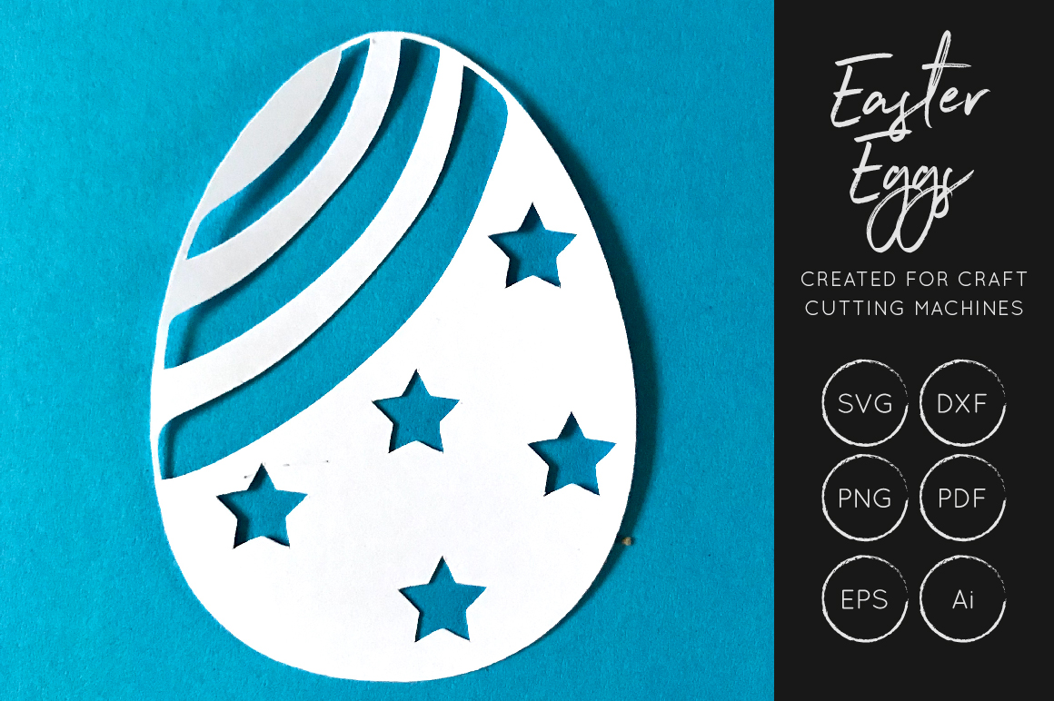 Download Free Easter Eggs Svg Cut Files Graphic By Illuztrate Creative Fabrica for Cricut Explore, Silhouette and other cutting machines.