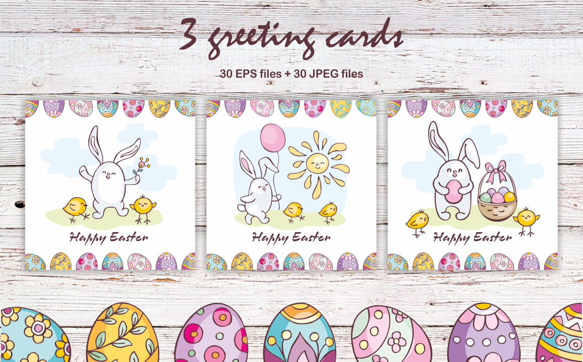 Print on Demand: Easter Doodles Set Vector Clip Arts and Seamless Patterns Graphic Illustrations By Olga Belova - Image 4