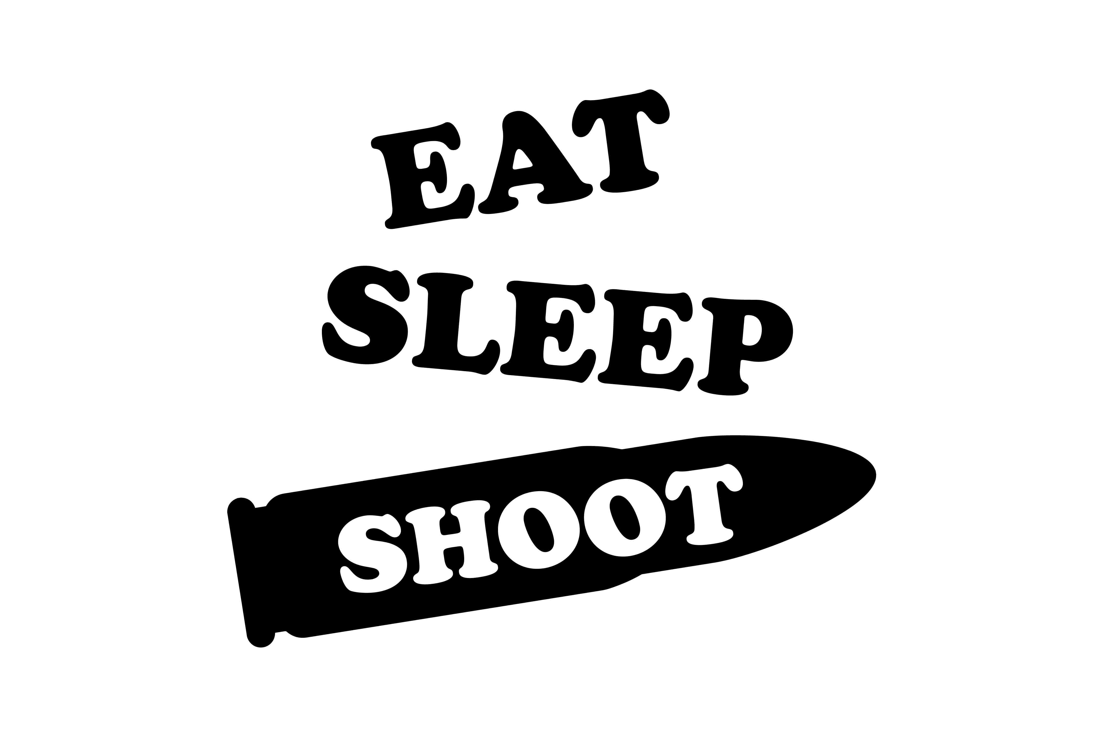 Eat sleep shoot SVG DXF EPS PNG AI