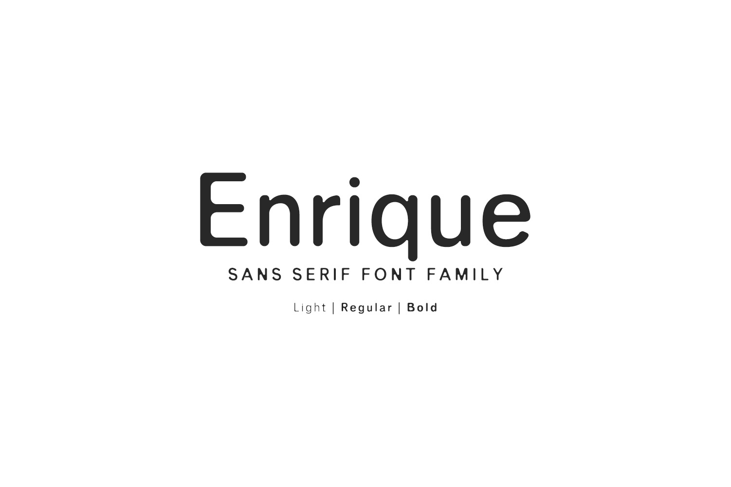 Print on Demand: Enrique Sans Serif Font By Creative Tacos - Image 1