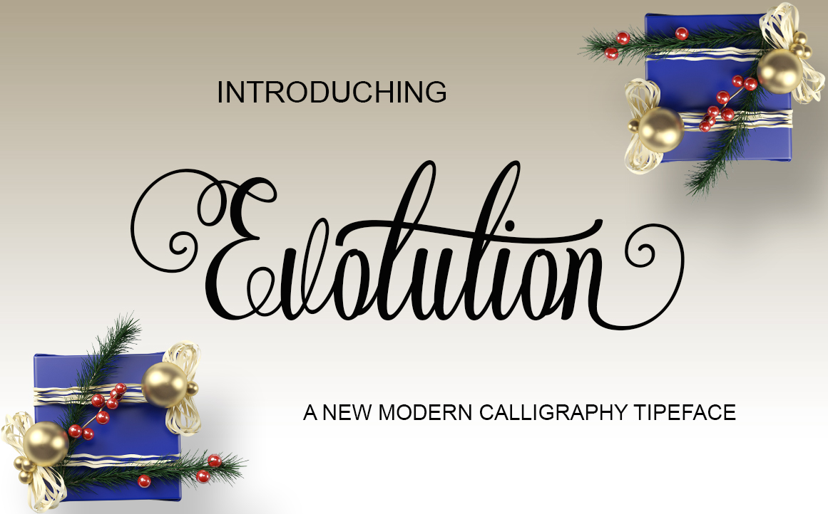 Print on Demand: Evolution Script & Handwritten Font By StudioRz