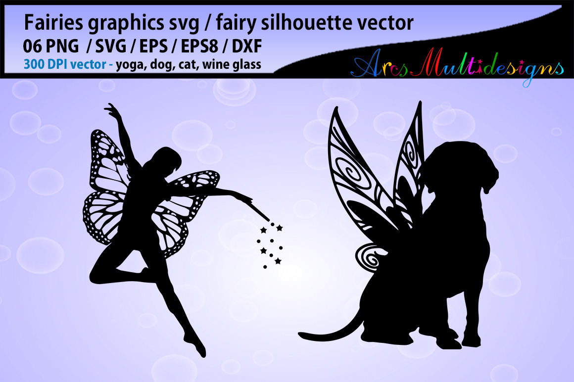 Print on Demand: Fairy Silhouette  Graphic Crafts By Arcs Multidesigns - Image 2