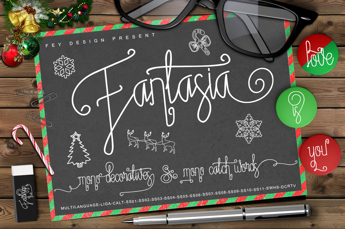 Print on Demand: Fantasia Script & Handwritten Font By feydesign