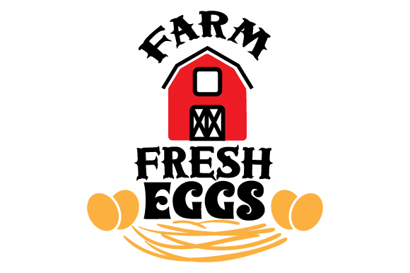 Farm Fresh Eggs Farm & Country Craft Cut File By Creative Fabrica Crafts