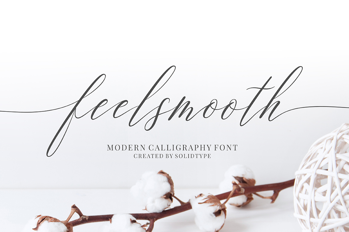 Print on Demand: Feelsmooth Script & Handwritten Font By Solidtype