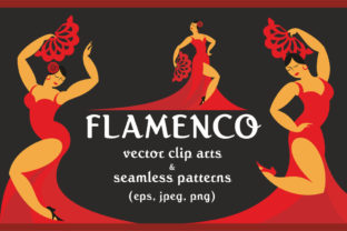 Flamenco Vector Clip Arts and Patterns Graphic By Olga Belova