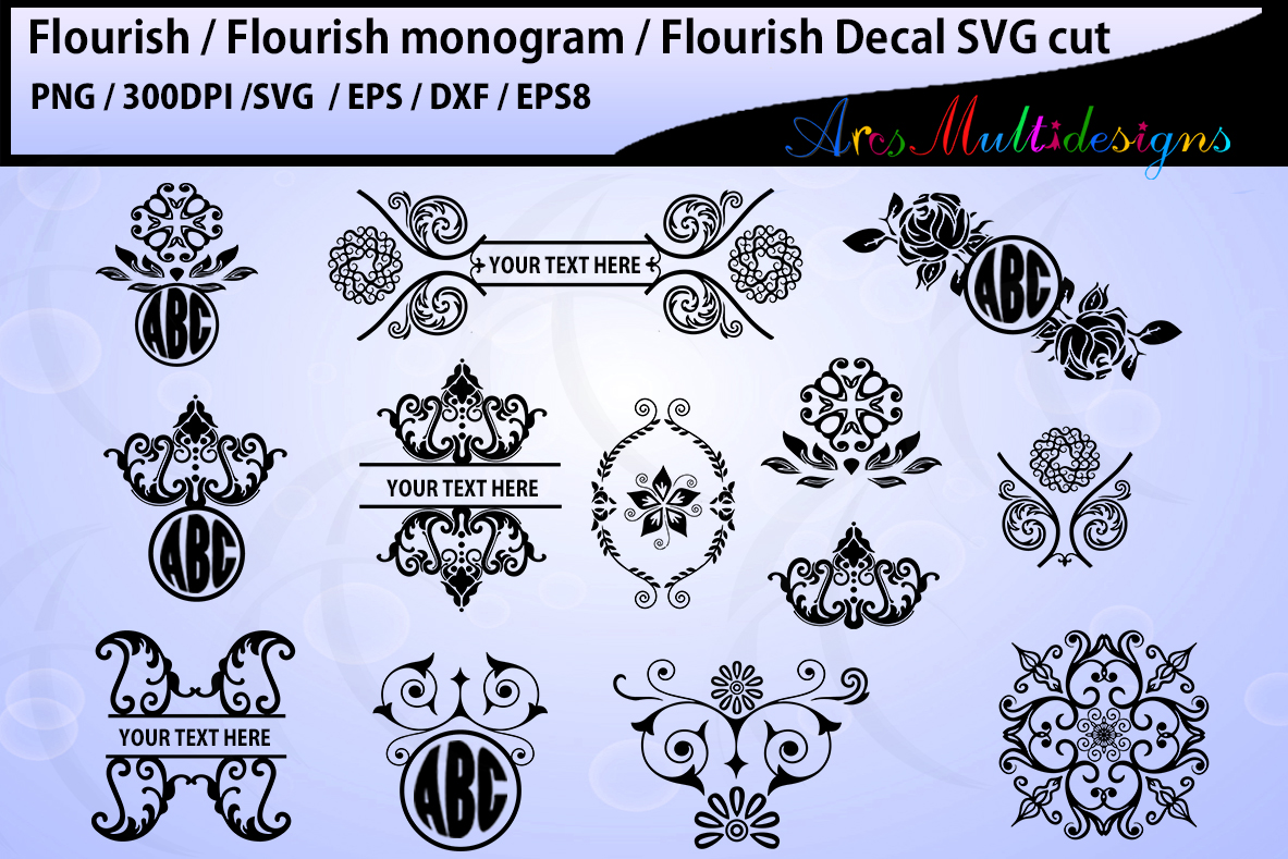 Print on Demand: Flourish Cut Files Graphic Crafts By Arcs Multidesigns - Image 1