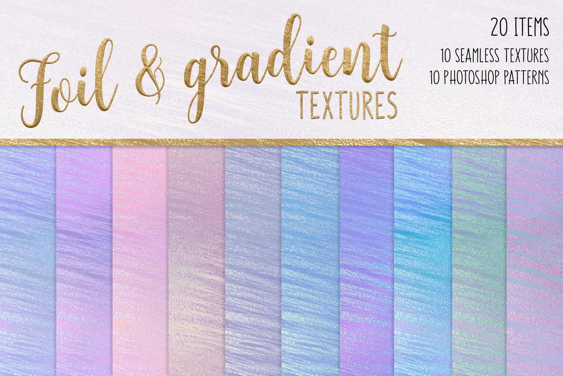Print on Demand: Foil and Gradient Textures Graphic Textures By JulieCampbellDesigns