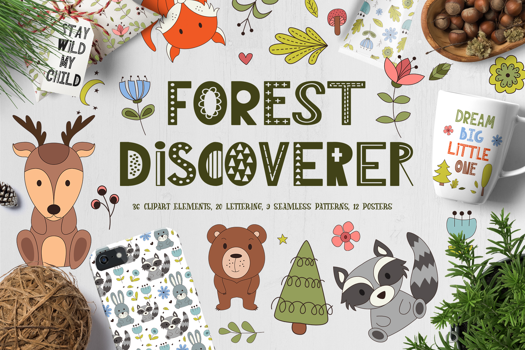 Download Free Forest Discoverer Clip Art Posters Graphic By Tregubova Jul for Cricut Explore, Silhouette and other cutting machines.