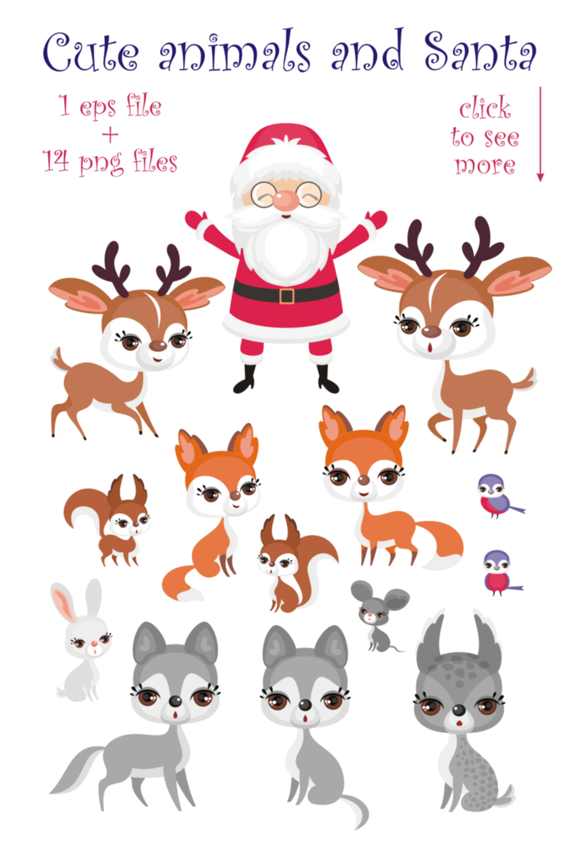 Print on Demand: Forest Friends Cute Clip Arts and Seamless Patterns Graphic Illustrations By Olga Belova - Image 2