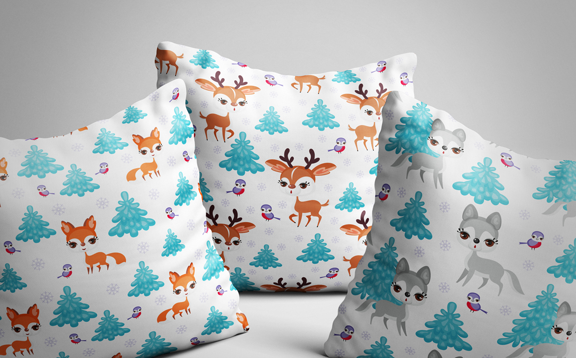 Print on Demand: Forest Friends Cute Clip Arts and Seamless Patterns Graphic Illustrations By Olga Belova - Image 4