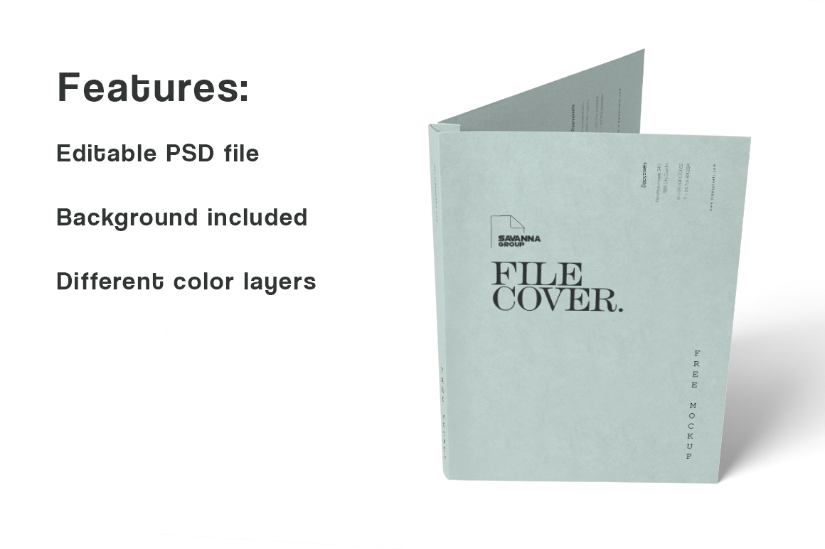 Free Folder Mockup Graphic Product Mockups By Creative Fabrica Freebies - Image 2