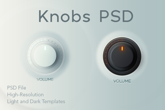 Free Knobs PSD Graphic Objects By Creative Fabrica Freebies
