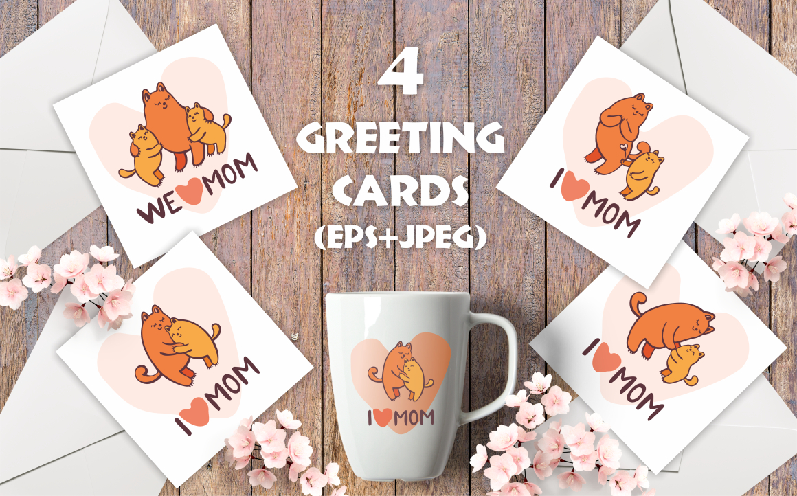 Print on Demand: Funny Cats Mother's Day Greeting Cards and Patterns Graphic Crafts By Olga Belova - Image 2