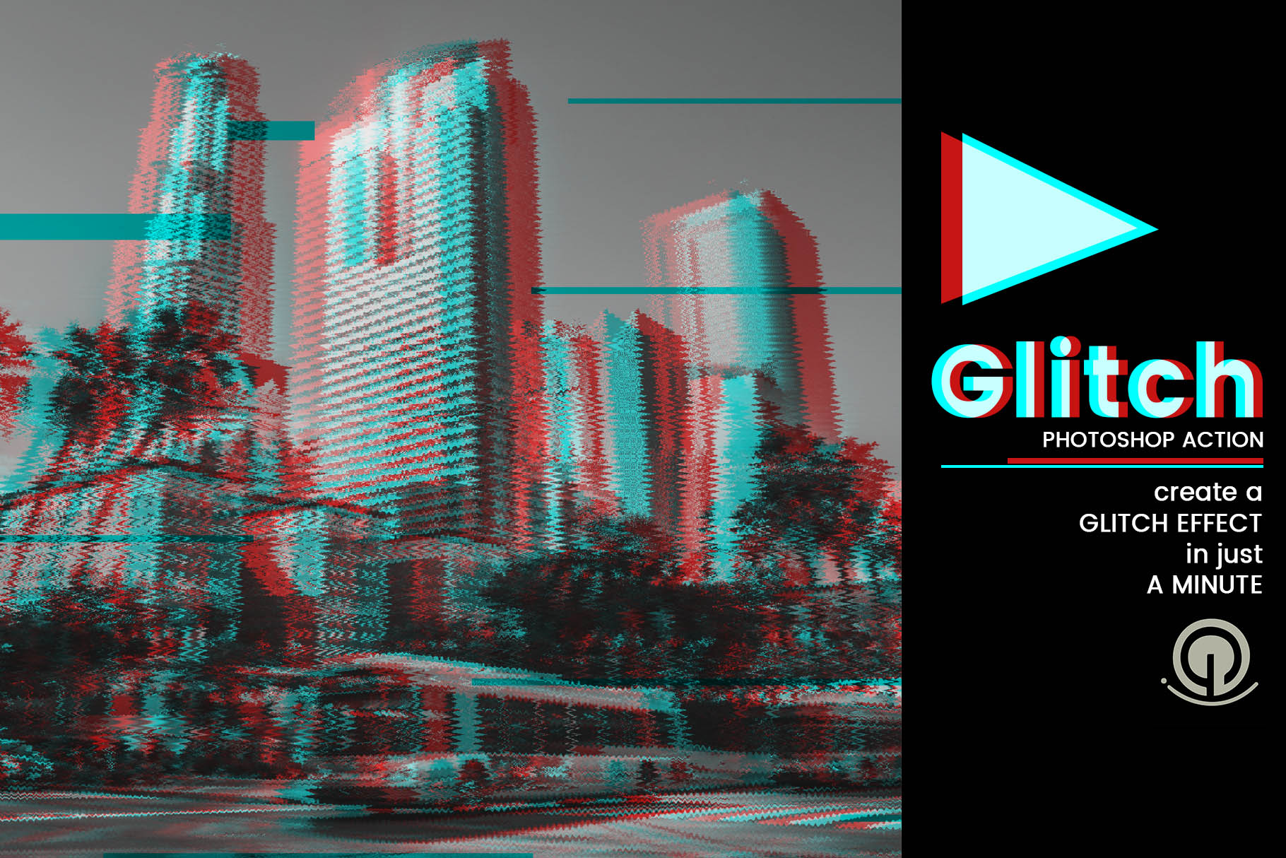 Glitch Photoshop Action Graphic Actions & Presets By gumacreative - Image 5