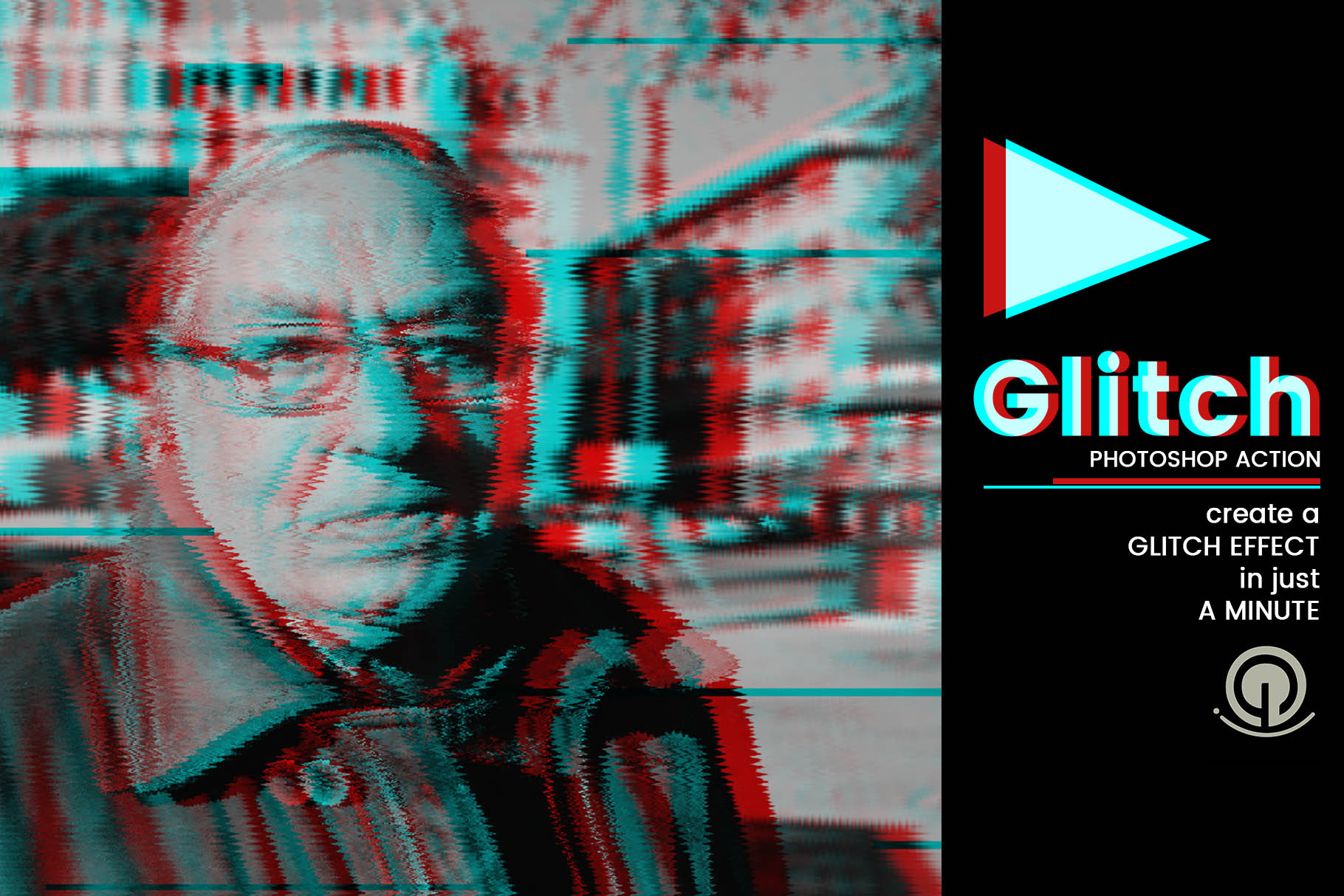 Glitch Photoshop Action Graphic Actions & Presets By gumacreative