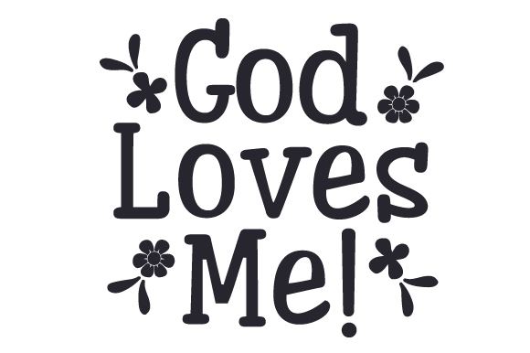 Download Free God Loves Me Svg Cut File By Creative Fabrica Crafts Creative for Cricut Explore, Silhouette and other cutting machines.