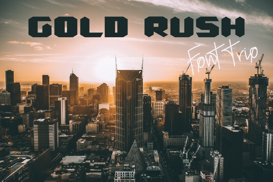 Print on Demand: Gold Rush Display Font By paramajandesign