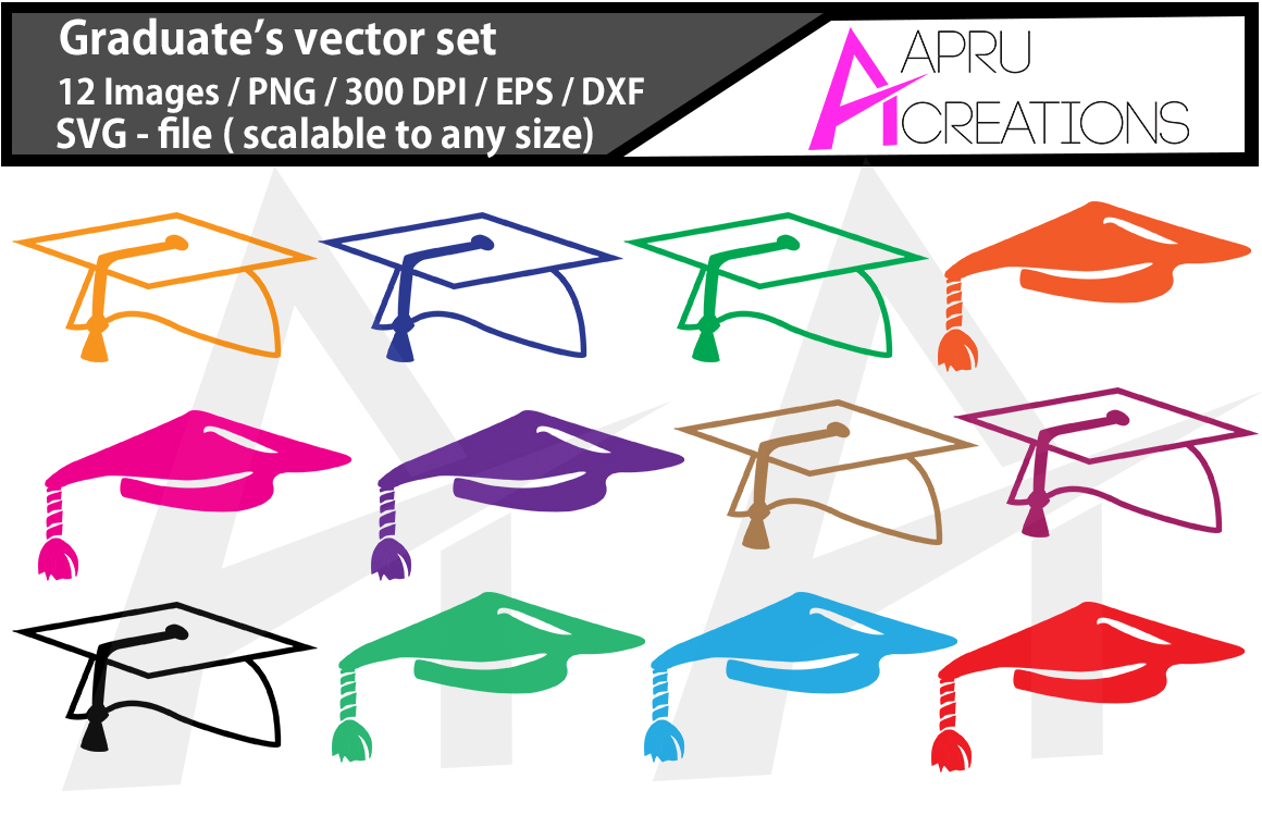 Download Free Graduate S Cap Silhouette Clipart Graphic By Aparnastjp for Cricut Explore, Silhouette and other cutting machines.