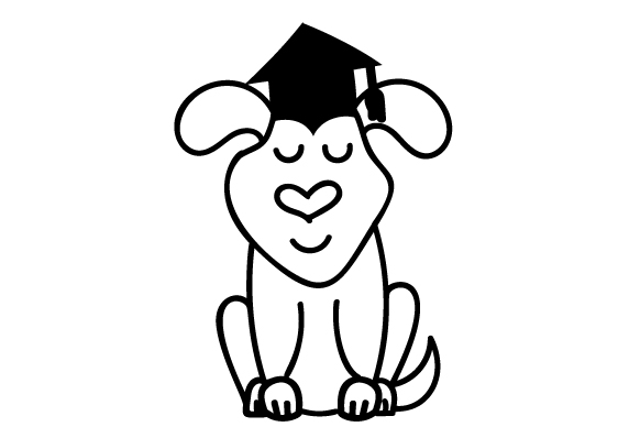 Download Free Graduation Dog Svg Cut File By Creative Fabrica Crafts for Cricut Explore, Silhouette and other cutting machines.