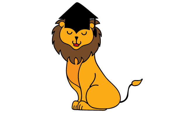 Download Free Graduation Lion Svg Cut File By Creative Fabrica Crafts for Cricut Explore, Silhouette and other cutting machines.