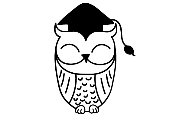 Download Free Graduation Owl Svg Cut File By Creative Fabrica Crafts for Cricut Explore, Silhouette and other cutting machines.
