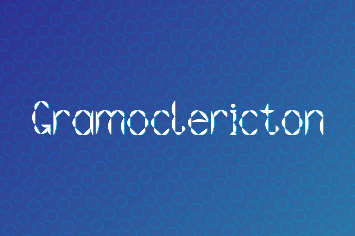 Gramoclericton Decorative Font By viper78