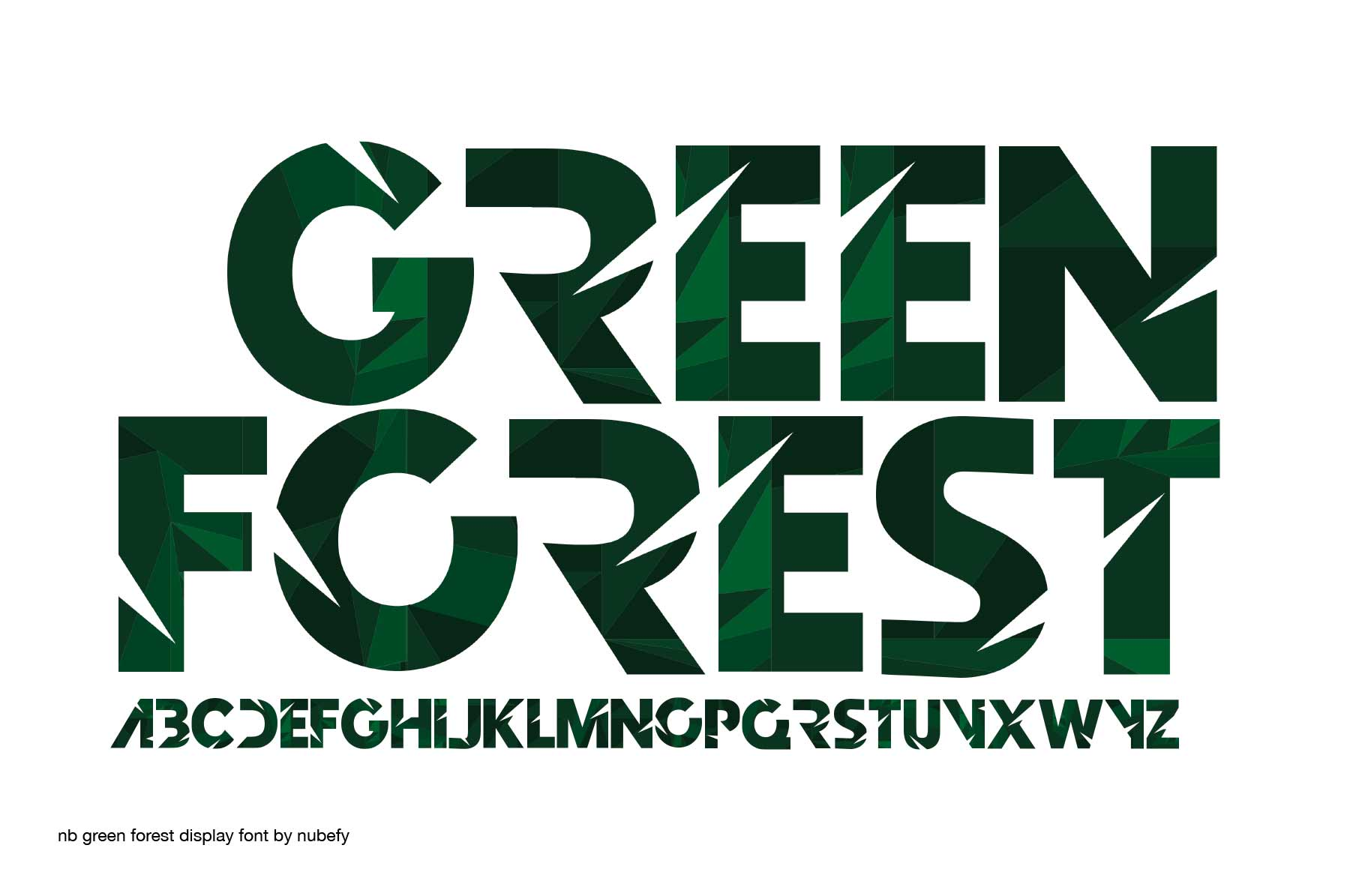 Print on Demand: Green Forest Color Fonts Font By nubefy