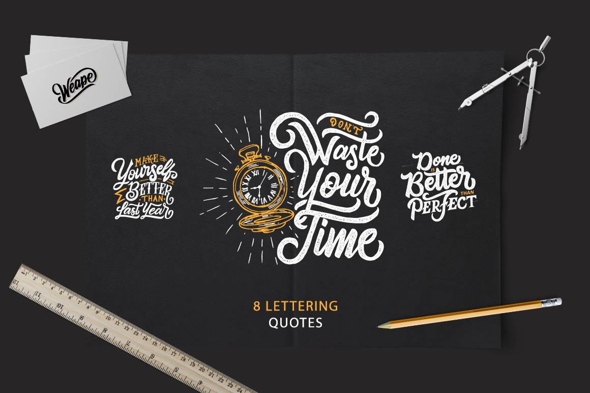 Download Free Hand Lettering Motivational Quotes Graphic By Weape Design for Cricut Explore, Silhouette and other cutting machines.