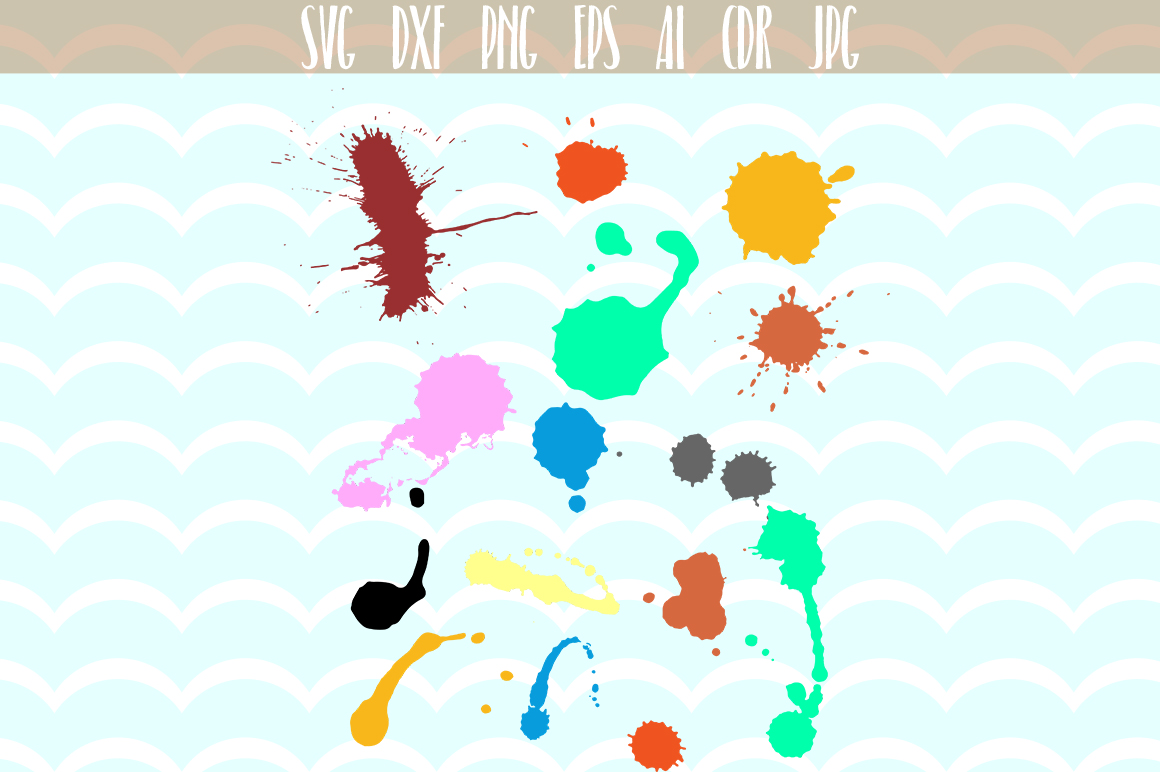 Download Free Hand Painted Color Drops And Splashes Svg Files Graphic By for Cricut Explore, Silhouette and other cutting machines.